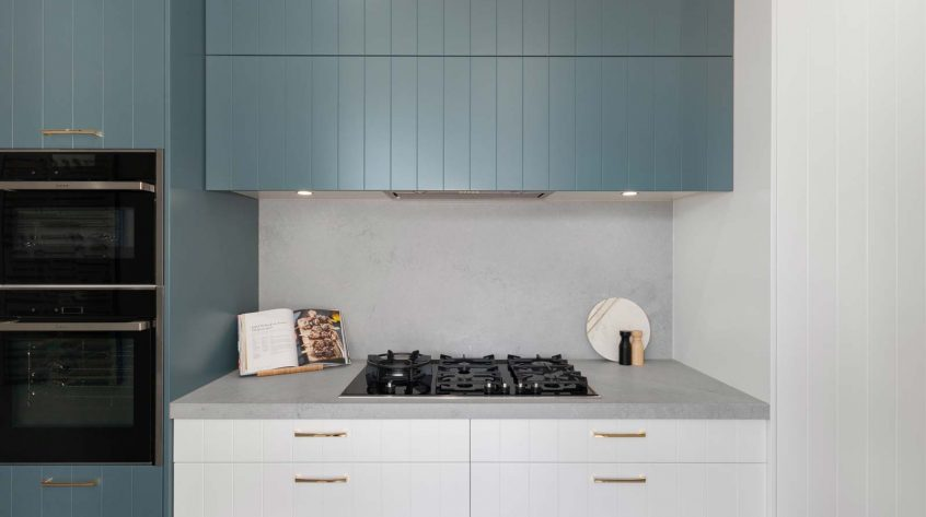 Caesarstone Airy Concrete Kitchen Design Premier Kitchens Showroom Display Drummoyne
