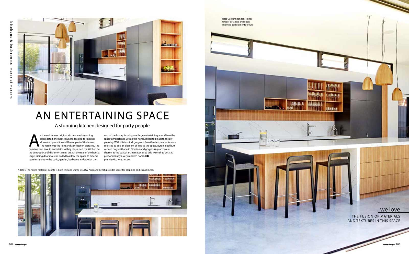 Home Design magazine article featuring Premier Kitchens Australia Cammeray kitchen design