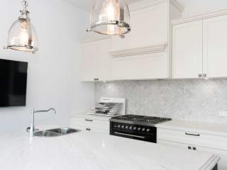 Kitchen design displays at Premier Kitchen's Showroom, Drummoyne.