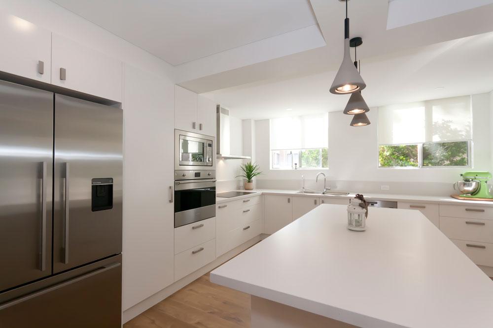 Caesarstone Fresh Concrete Custom Kitchens Modern Design Polyurethane