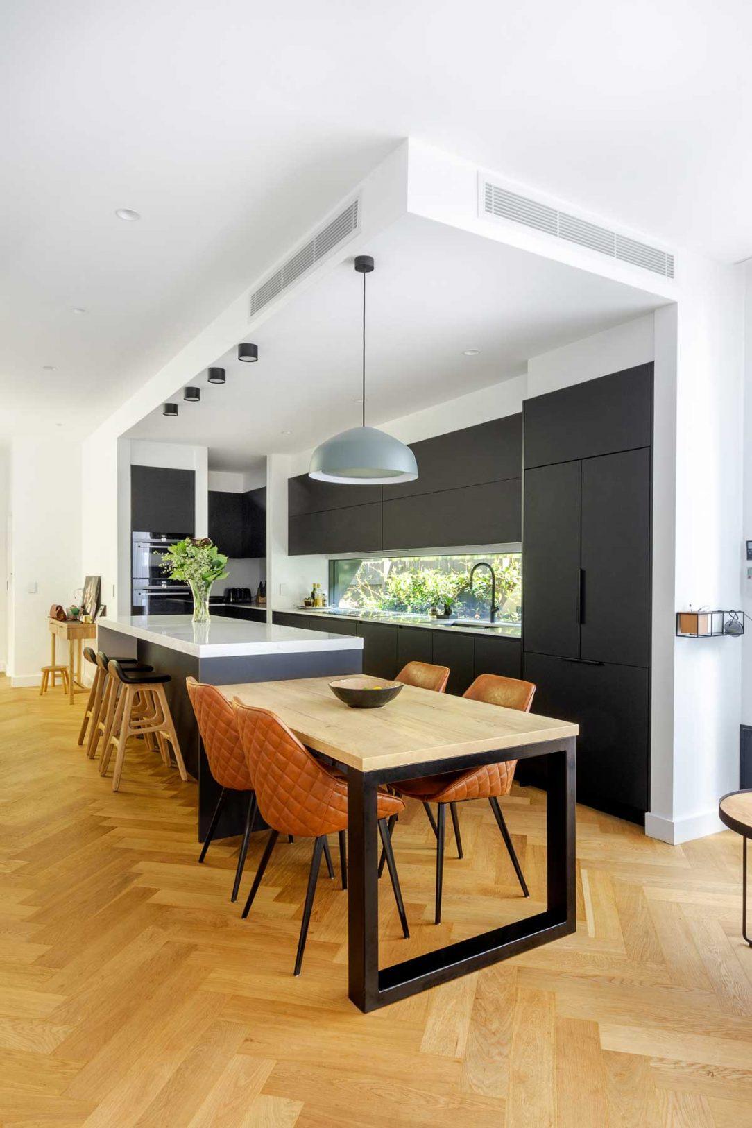Luxury Caesarstone kitchen design in Mosman Sydney, designed and manufactured by Premier Kitchens Australia
