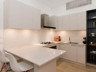 caesarstone-nordic-loft-polytec-kitchen-cabinets-caroma-tapware-clark-sink-premier-kitchens-showroom-display-willoughby-4a
