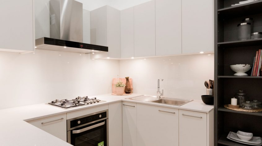 caesarstone-nordic-loft-polytec-kitchen-cabinets-caroma-tapware-clark-sink-premier-kitchens-showroom-display-willoughby-4b
