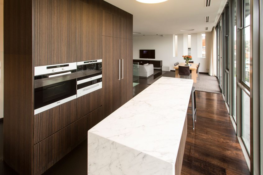 Timber veneer archives premier kitchens - Miele kitchen cabinets ...