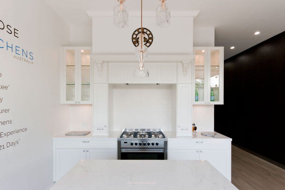 dulux-polyurethane-shaker-kitchen-cabinets-quantum-quartz-michelangelo-benchtop-premier-kitchens-showroom-display-willoughby-1a