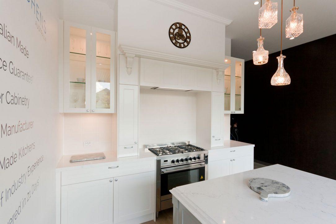 dulux-polyurethane-shaker-kitchen-cabinets-quantum-quartz-michelangelo-benchtop-premier-kitchens-showroom-display-willoughby-1d