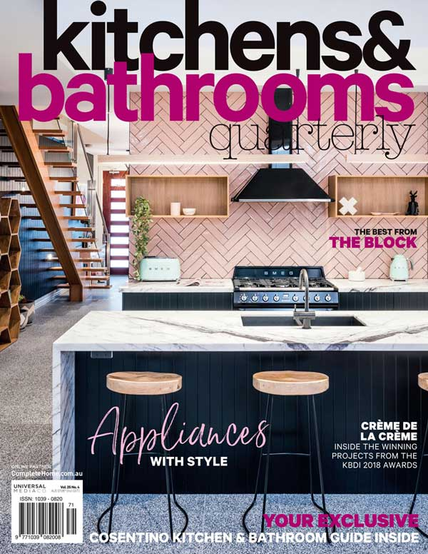 kitchens and bathrooms quarterly magazine cover 2018