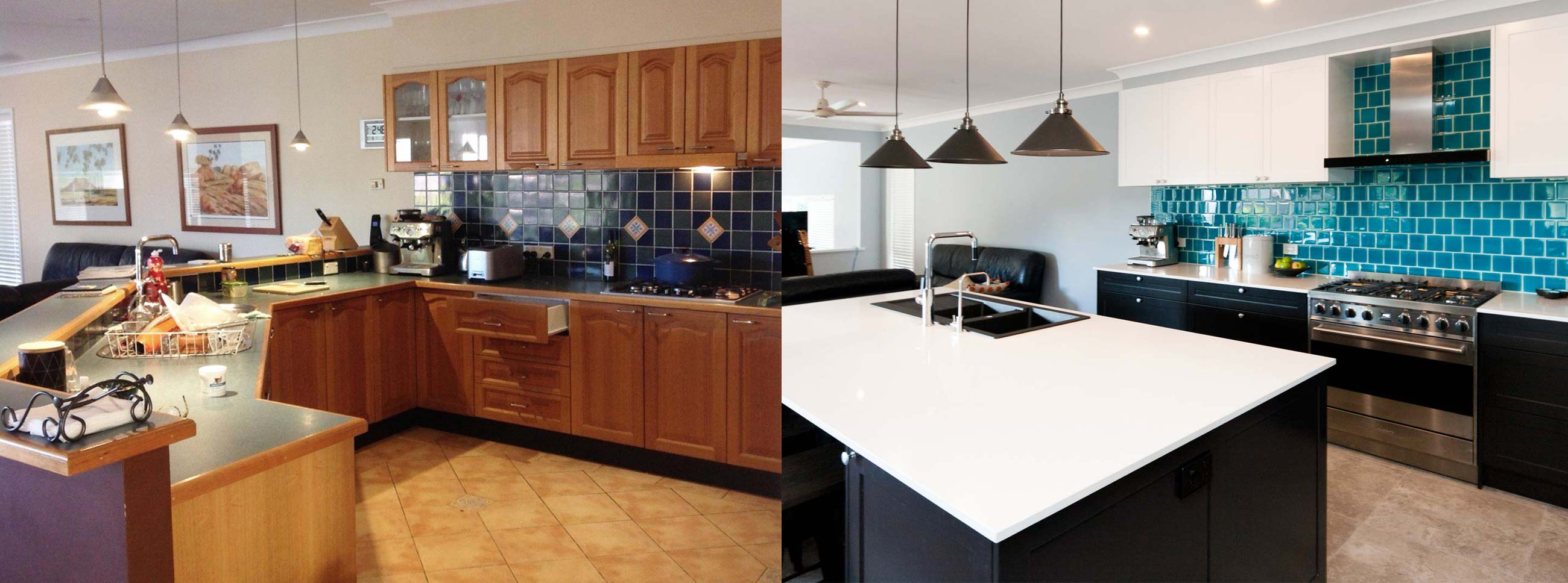 Kitchen Design Before After Kitchen Renovation Black White Polyurethane Classic Kitchen Joinery