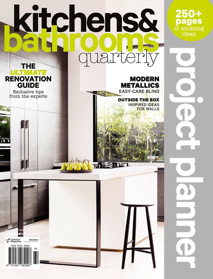 kitchens and bathrooms quarterly magazine cover april 2017 featuring premier kitchens australia modern kitchen design