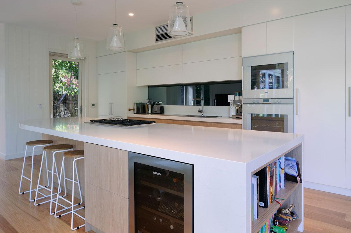 quantum quartz carrara custom kitchen cabinet design polyurethane cabinets new age veneer. Black Bedroom Furniture Sets. Home Design Ideas